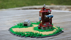 The Burrow 2 (Carson Hart) Tags: brick ford home scale grass car flying lego little wizard smoke magic ministry shed harry potter harrypotter mini ron photograph tiny ginny anglia burrow weasley fordanglia ministryofmagic chamberofsecrets orderofthepheonix miniscale