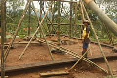 Ground floor with Pak Made (SimonEvans1) Tags: bali house bamboo greenworld batukaru tabanan