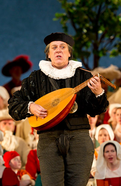 "Peter Coleman-Wright as Beckmesser in Graham Vick's production of  Die Meistersinger von Nürnberg. The Royal Opera Season 2011/12. <a href=""http://www.roh.org.uk"" rel=""nofollow"">www.roh.org.uk</a> Photo: Clive Barda"