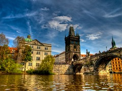 Prague, View from the river (ZO(ly)) Tags: bridge czech prague visla soe karlov