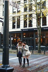 Beauties on Water St. () Tags: street ladies canada beauty vancouver downtown bc candid waterst gastown candidphotography m43 mirrorless microfourthirds lumix20mmf17 olympuspenep3
