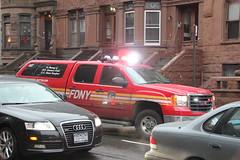 FDNY Involved In A MVA/PIN - 12/21/2011 (NYbuff) Tags: nypd squad fdny mva pinjob