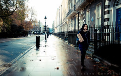 London streets (Serena Cevenini) Tags: winter light london girl riflessi londonstreet