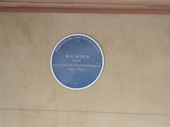 Photo of Wystan Hugh Auden blue plaque