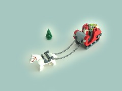 Santa's Sleigh (horse) (aBee150) Tags: from santa christmas horse reindeer view lego you photos or seat 150 everyone merry ejection clause functionality aabbee