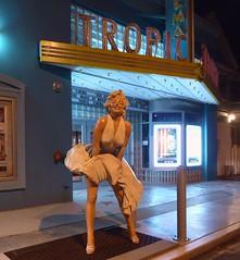 Marilyn at the Tropic (PelicanPete) Tags: cinema smile statue marquee grate dress unitedstates legs florida marilynmonroe air grill sidewalk moviestar keywest movietheatre iconic floridakeys bluelight southflorida beforesunrise frozenmoment islandchain eatonstreet thetropic iconicwhitedress shereallygetsaround
