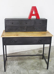 Vintage Industrial Style Writing Table (Like That One) Tags: wood urban metal loft singapore raw industrial desk edgy