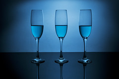 Three's A Crowd (Explored) (simon.anderson) Tags: blue stilllife reflection glass glasses nikon drink flash explore liquid bounce explored strobist d300s jessops360afd yongnuorf602