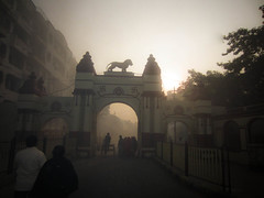 A Winter morning visit to to Dakshineswar Kali Temple West Bengal India (Anbu Karasan) Tags: india west temple kali entrance bengal dakshineswar