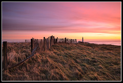 A fresh Start (greyridge) Tags: longexposure pink grass sunrise fence stmarys ligthouse