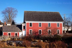 Barrington Woolen Mill (Jean Knowles) Tags: windows red mill museum river novascotia spinning arr geotag weaving allrightsreserved barrington 1884 carding penstock shelburnecounty waterpowered shingled oldwoolenmill nottobeusedwithoutmypermission novascotiamuseum 2012jeanknowles verticalaxleturbine