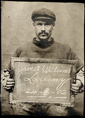 James Williams (Tyne & Wear Archives & Museums) Tags: portrait blackandwhite bw male monochrome museum photography williams victorian custody tyne wear movember moustache crime cap jail archives jersey grin mugshot 1906 theft discovery guernsey 1904 villains sentence edwardian prisoner 1905 1903 larceny prisoners tynewear 1902 cheekygrin criminals northshields knitwear gansey 1900s tyneweararchivesmuseums northshieldspolicecourt