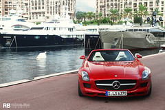 SLS AMG Roadster (Raphaël Belly Photography) Tags: pictures red paris cars car private de french rouge photography eos mercedes hotel photo shoot riviera photographie photoshoot casino montecarlo monaco 63 mc belly exotic 7d hermitage raphael rosso fontvieille luxury rb rocher v8 fairmont spotting sls amg supercars roadster cabriolet raphaël séance principality 2011 principauté worldcars egarage