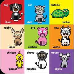 Icklelingo book 1 - French inner - animals (Icklelingo) Tags: englishfrench icklelingo
