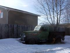 Classic truck (dave_7) Tags: usa classic chevrolet truck us rust montana rusty gmc lawnornament sweetgrass