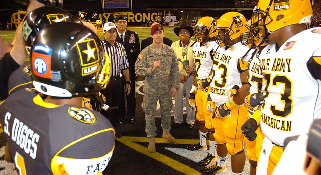 Coin Toss at U.S. Army All-American Bowl
