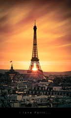 I love Paris <3 | EXPLORED #3 | (Beboy_photographies) Tags: sunset paris france de soleil tour coucher grand eiffel jour toureiffel palais soir crpuscule hdr ville contre