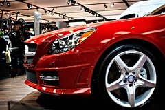 Sexy Slick (Yann Tastayre) Tags: auto show red toronto ontario canada wheel canon rebel mercedes benz headlight xs cias
