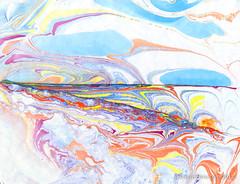 ebru shoreline (Lucid Optic Lab) Tags: abstract art oregon painting paper portland monoprint paint acrylic arte handmade contemporary kunst marbled psychedelic marbling ebru ebrucu turkishpapermarbling dannyebrucom dannyebru