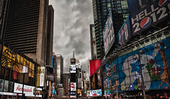ominous signs (PM Breakfast) Tags: street nyc newyorkcity sky clouds ominous foreboding manhattan explore timessquare ripples odc explored ourdailychallenge