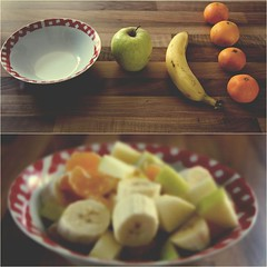 Fruits (donchris!) Tags: apple frutas fruits mandarine fruit diptych manzana bowl it banana fruta mandarin banane dip mandarina frutta frucht apfel schssel pomme mela pltano frchte dippy banan miska jabko diptychon mandarino cuenco owoc mandarynka ciotola