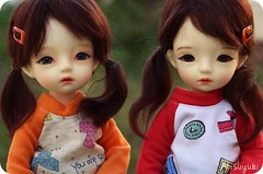 Twins arrived! (Arisuyuki) Tags: japanese doll bjd dollfie dollmore yosd arimi babylambmiadoll miasbabydollaga daitsumi