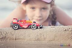 Race Cars on the Beach (BJRainbow) Tags: red beach car racetrack race racecar sand track noosa pregame odc noosariver makingtracks yourockwinner ourdailychallenge pregamewinner