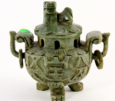 25. Jade Colored Stone Incense Burner