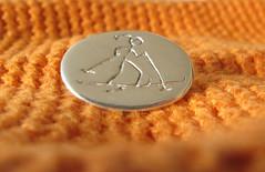 Skier/skidkare (eriksjos) Tags: silver brooch skier 999 brosch silverclay finesilver skidkare finsilver silverlera