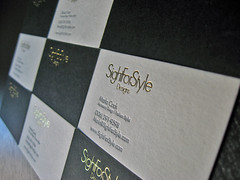 Sight For Style Letterpress Cards (dolcepress) Tags: white ny black duplex custom letterpress bohemia businesscard ecru frenchpaper metallicgold 11716 lightgray foilstamping lettra muscletone dolcepress marlacook sightforstyle craigleontowicz