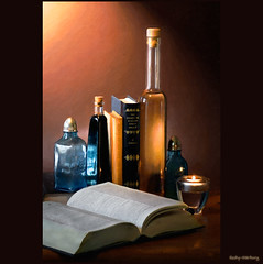 Still Life Jan 2012 (hooby-marburg) Tags: stilllife germany bottles books picturesque bcher flaschen malerisch hooby mygearandme hoobymarburg ringexcellence blinkagain