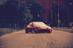 John's 350z (Evano Gucciardo) Tags: red car japan work nikon nissan natural mesh low wheels automotive tuner flush carbon dope fiber rims 350z slammed stance 18105 baller legit gucciardo d90 ingz evano evog