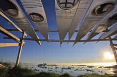"""Mitternachtssonne und Kajaks, Ilulissat, Westgrönland • <a style=""""font-size:0.8em;"""" href=""""http://www.flickr.com/photos/73418017@N07/6747934945/"""" target=""""_blank"""">View on Flickr</a>"""