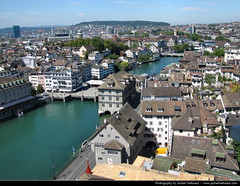 View from the Grossmnster, Zurich, Switzerland (JH_1982) Tags: travel panorama travelling schweiz switzerland view zurich traveling zrich aussicht blick grossmnster grossmunster bestof2011 jochenhertweck