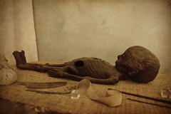 Mummy of a Little Boy (j. kunst) Tags: boy holland netherlands sepia dead leiden child egypt nederland egyptian mummy mummification recoloured leyden  rmo rijksmuseumvanoudheden nationalmuseumofantiquities  graecoromanperiod