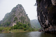 Among the Mountains (yablinksht) Tags: people mountains nature water rock river boat asia vietnam limestone ninhbinh