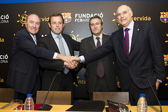 Rueda de prensa de FCB e Intervida (Intervida) Tags: bara ong fcb ruedadeprensa convenio futbolclubbarcelona xics intervida