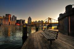 Pittsburgh - A Plain HDR - (Yohsuke_NIKON_Japan) Tags: bridge usa river bench nikon pittsburgh sigma pa hdr 10mm photomatix d300s