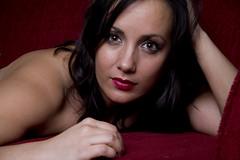 Sara (austinspace) Tags: portrait woman studio washington spokane couch brunette alienbees
