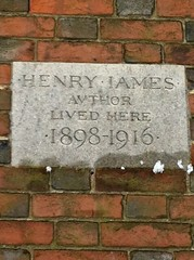 Photo of Henry James stone plaque