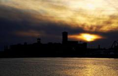 Allen-Bradley Sunset (willkommen) Tags: sunset wisconsin clouds nikon day sundown cloudy lakemichigan milwaukee hdr milwaukeeriver d90 allenbradley
