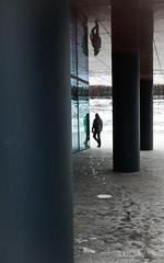 Walk a way (snertmetworst) Tags: street winter urban cold netherlands dark nikon who nederland shade waterproof almere mistery straat aw100 nikonaw100exposurescouting