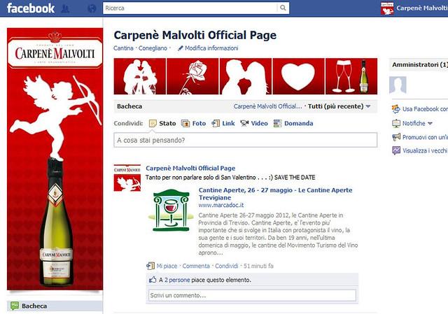 Carpenè Malvolti Facebook - SAN VALENTINO