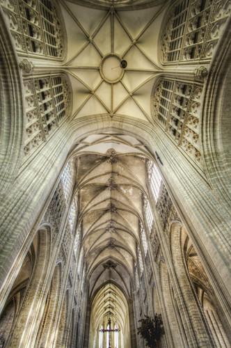 St Peter's church vault. Leuven. Bóveda de la iglesia de San Pedro. Lovaina