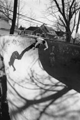 It's About Time (Shannon Schultz) Tags: lighting light shadow blackandwhite sun film shadows action michigan awesome detroit bowl riding skatepark rollerblading rollerblades actionshot rideitsculpturepark
