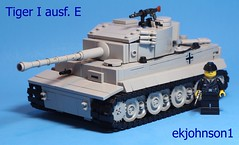Tiger I ausf. E (ekjohnson1) Tags: holland brick germany grey tank lego russia tiger mg german weapon build 88 citizen 34 sherman vi flak panzer ussr moc luger bricklink modcom brickarms overmould