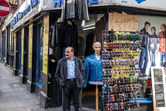 My Brother's A Dummy (Silver Machine) Tags: street london mannequin sunglasses shop standing lumix candid streetphotography streetportrait dummy bricklane leatherjacket lumixg lumixg20mmf17 lumixg5 fujiholicsphotowalklondonmay2016