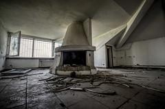 Il Salone col Camino (GigiPeis) Tags: house decay urbex devasted vandalized oncewashome