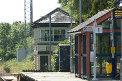 20150625 011 Liskeard. Down Platform, Signalbox (15038) Tags: station buildings br mechanical trains railways britishrail semaphore signalbox liskeard signalling