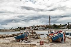 IMG_4629 (Ing. Pdiablos) Tags: italy color clouds contrast landscape boats fisherman italia nuvole colore cloudy barche stunning fishermans colori puglia paesaggio pescatore contrasto nuvoloso trani pescatori
